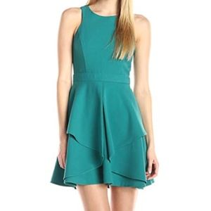 Adelyn Rae | Green/Teal Layered Dress Size Small